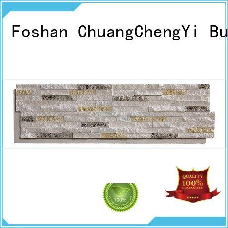 environmental pu series ChuangChengYi faux stone exterior siding