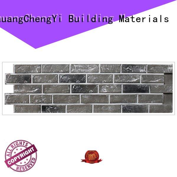 material clutured pu environmental ChuangChengYi fake brick cladding