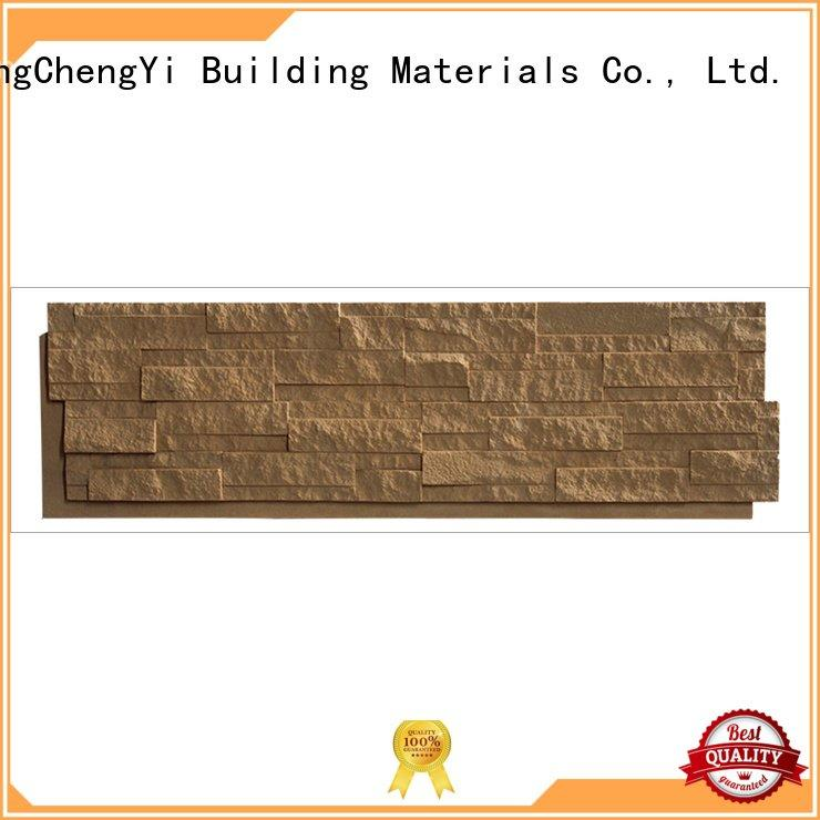 ChuangChengYi interior exterior crystal faux stone exterior siding material
