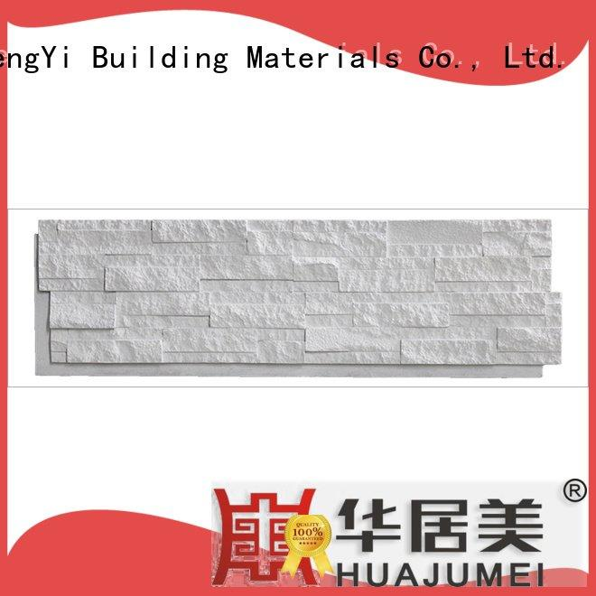 Custom exterior faux rock panels pu faux stone exterior siding