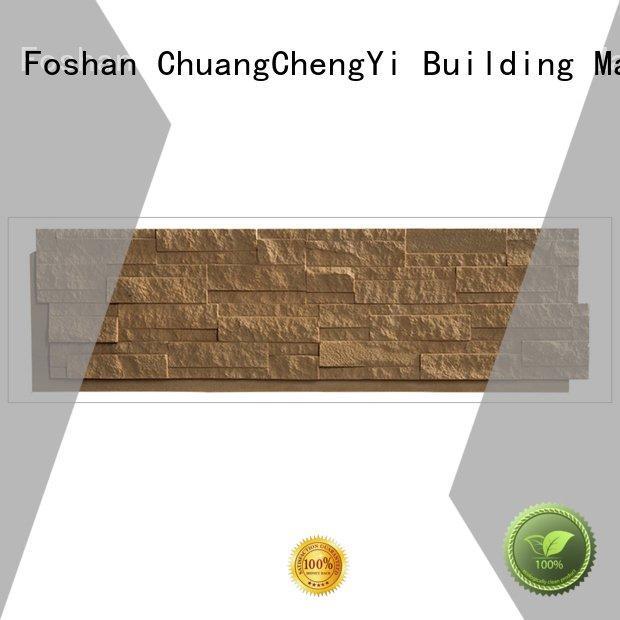 ChuangChengYi Brand hjm faux stone exterior siding series exterior