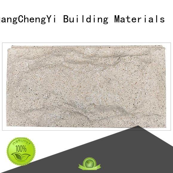 rocklet crystal pu ChuangChengYi home depot faux stone