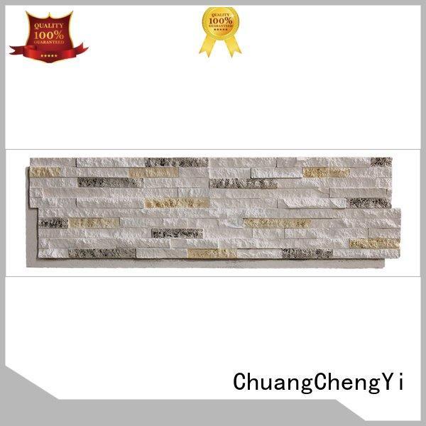 faux stone exterior siding hjm crystal faux rock panels ChuangChengYi Warranty