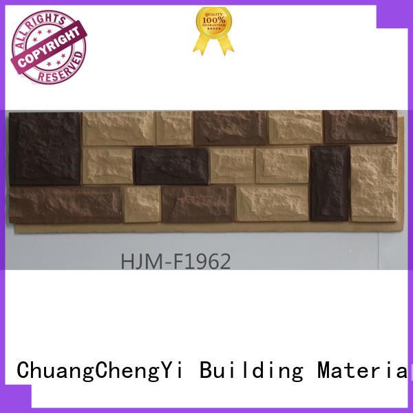 easy to install white faux stone veneer hjmc1930 bulk production for exhibition