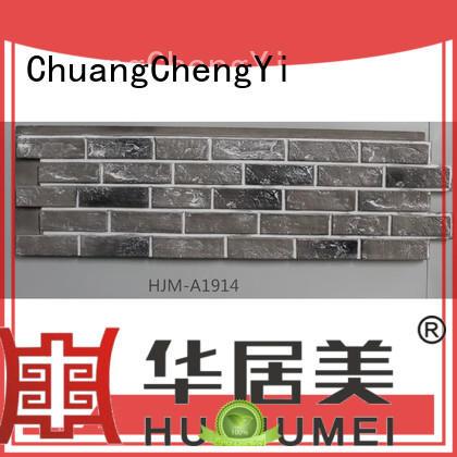 ChuangChengYi lightweight cheap faux stone panels bulk production for accent walls
