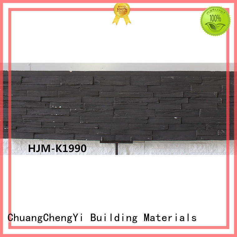 ChuangChengYi slate home depot faux stone at discount for houseowner