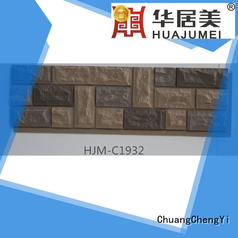fire resistant fake stone veneer panels factory price for hotels ChuangChengYi