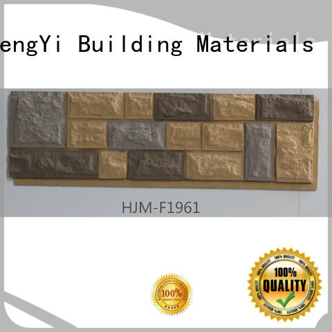 ChuangChengYi lightweight fake stone siding faux panels chic design for amusepark