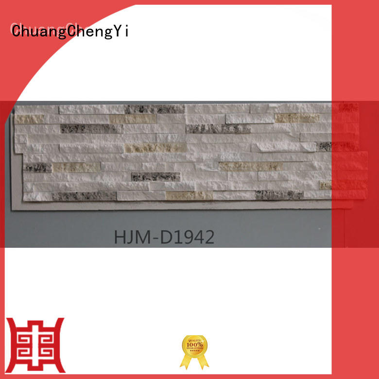 faux stone exterior siding interior crystal Warranty ChuangChengYi