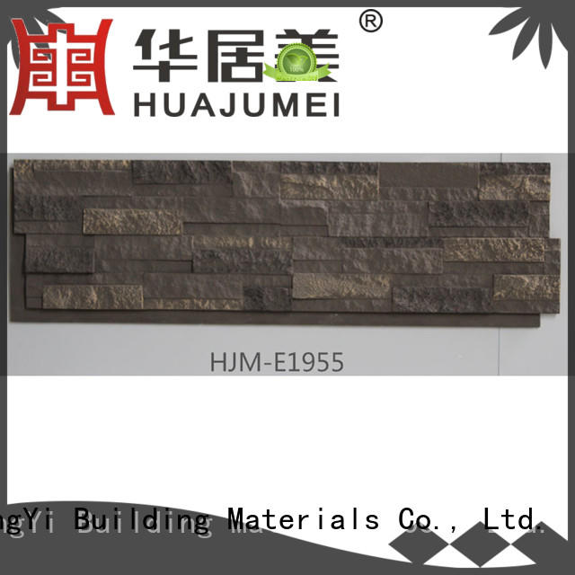pu rocklet material faux stone exterior siding ChuangChengYi Brand