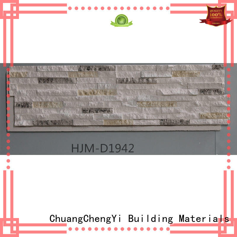ChuangChengYi easy faux rock fence panels factory price for hotels