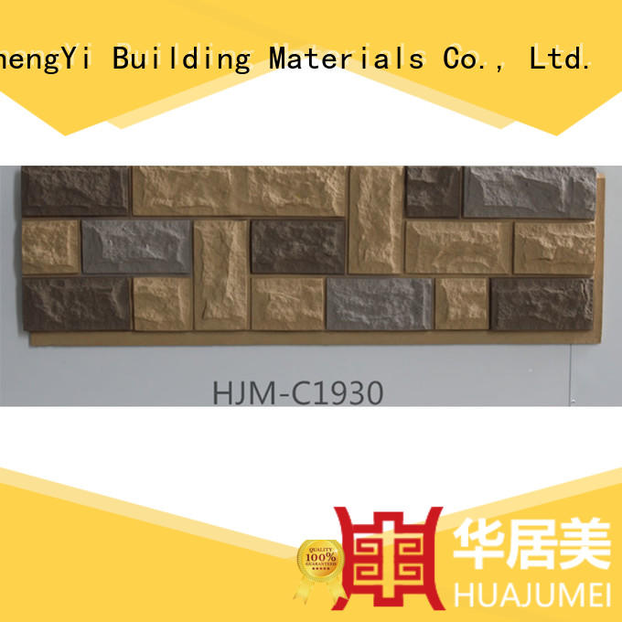 ChuangChengYi zero maintenance faux cobblestone siding diy for restaurant