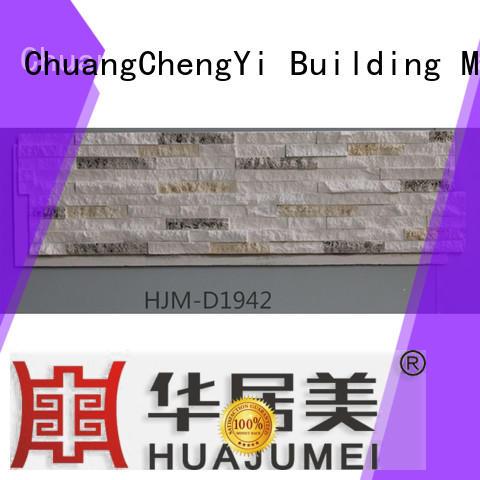 ChuangChengYi durable fake rock backsplash for exhibition