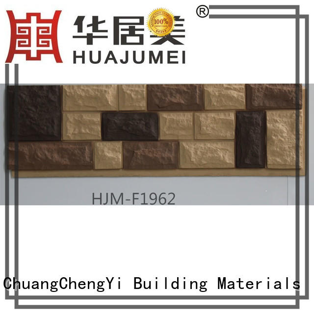 ChuangChengYi Brand material pu custom faux brick panels for interior walls