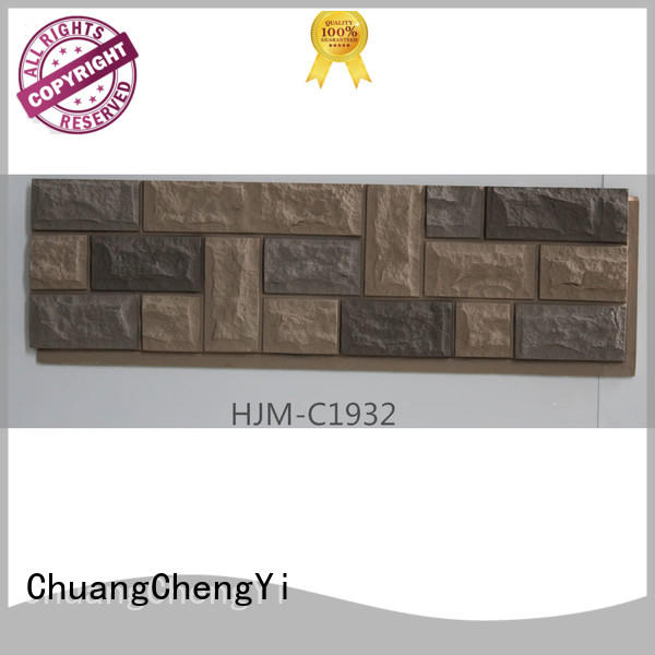ChuangChengYi hjmf1960 faux stone siding prices producer for restaurant