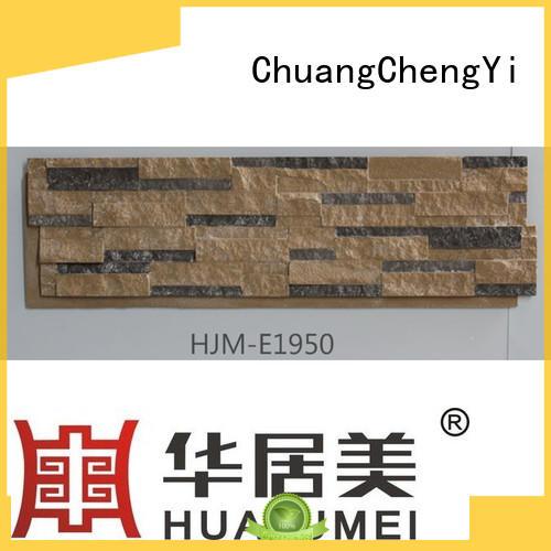 hjm crystal faux stone exterior siding ChuangChengYi manufacture